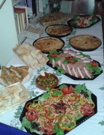 Een voorbeeld van  een cataringbuffet